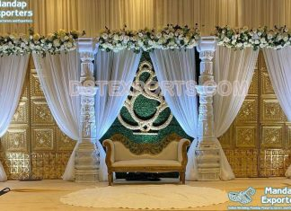 Low Budget South Indian Wedding Stage Decor