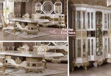Luxurious White Dining Room Furniture Set
