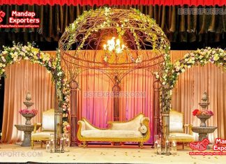 Modern Cage Style Contemporary Wedding Stage