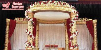 New Style Golden Wedding Mandap Cum Stage