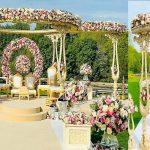 Outdoor Rustic Theme Wedding Garden Mandap