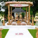 Outdoor Wooden Wedding Mandap Chicago