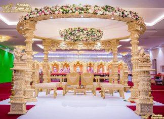 Premium Solid Wood Wedding Mandap UK