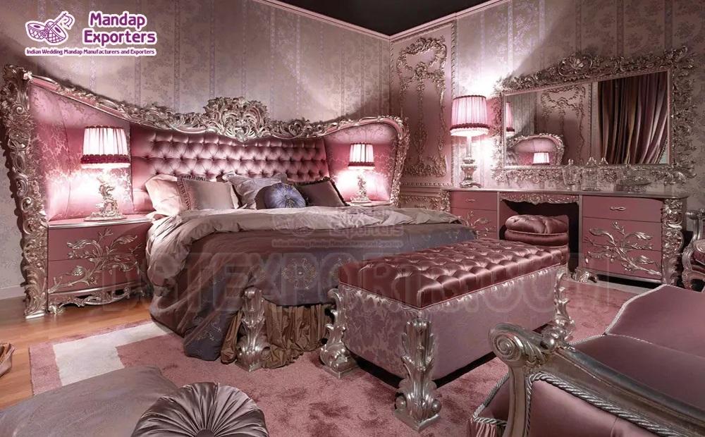 Princess Style Wooden Carved Bedroom Furniture