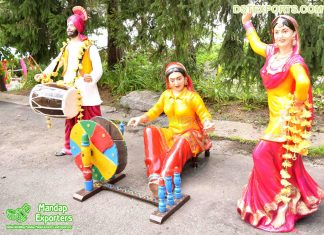 Punjabi Fiberglass Life Size Statues for Sale
