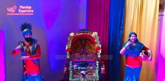 Punjabi Wedding Sardar Sardarni Welcome Statues