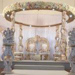 Ravishing Round Wooden Marriage Mandap Set