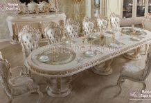 Royal White Dining Room Furniture Set