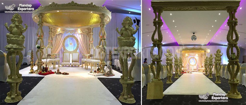 Rustic Theme Wedding Wooden Aashiqui Mandap