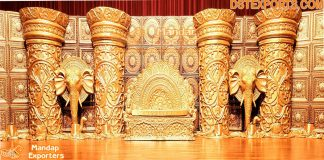 Sri Lanakan Style Wedding Stage Decoration