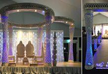 Stunning Blueberry Themed Wedding Mandap
