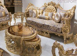 Teak Wood Maharaja Style Sofa Set