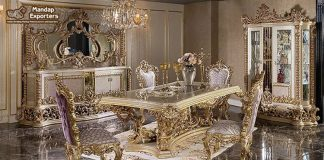Top Classic Carved Dining Room Furniture Set