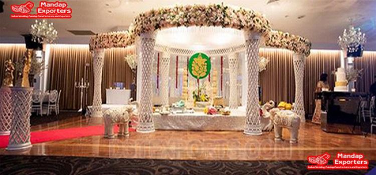 Trendy Diamond Cut Wedding Mandap USA