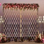 Vibrant Sangeet Night Candle Wall Decoration