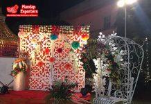 White Iron Decorative Wedding Rickshaw