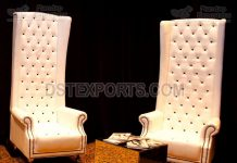 White Royal Wedding High Back Couple Chairs