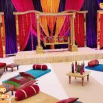 Bride Groom Swing Seating for Mehndi Event