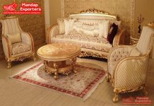 Classical European Style Living Room Sofa Set
