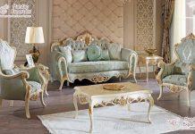 Comfortable Teak Wood Living Room Sofa Set