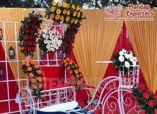 Decorative Rickshaw for Wedding Photoshoot