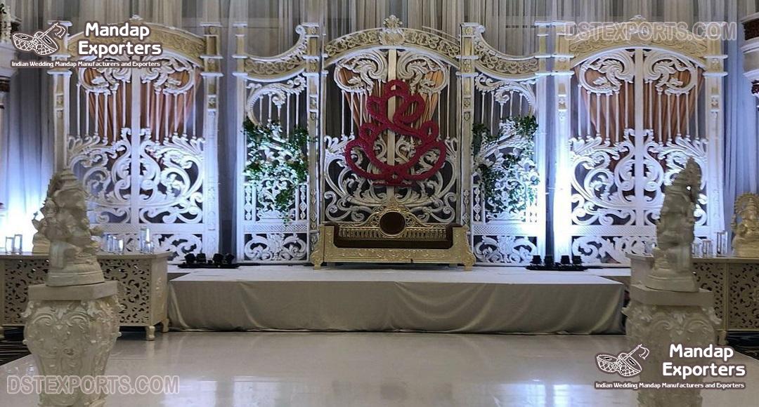 Dreamy Wedding Stage Fiber Backstage Gate Panel