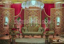Elegant Mehrab Wedding Stage Backdrop Frames