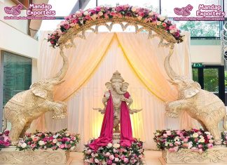 Exclusive Wooden Elephant Statue For Wedding Entrance