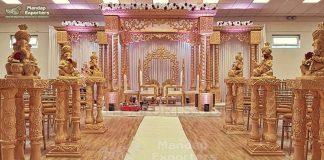Exclusive Wooden Triple Pole Wedding Mandap UK