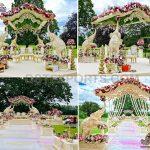 Fabulous Elephant Carved Outdoor Wedding Mandap