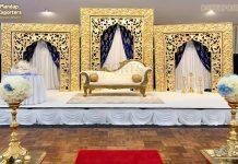 Golden FRP Frames & Panels Decor Wedding Stages