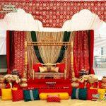 Golden Mehndi Stage Swing Decoration