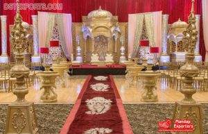 Gorgeous Temple Look South Wedding Stage