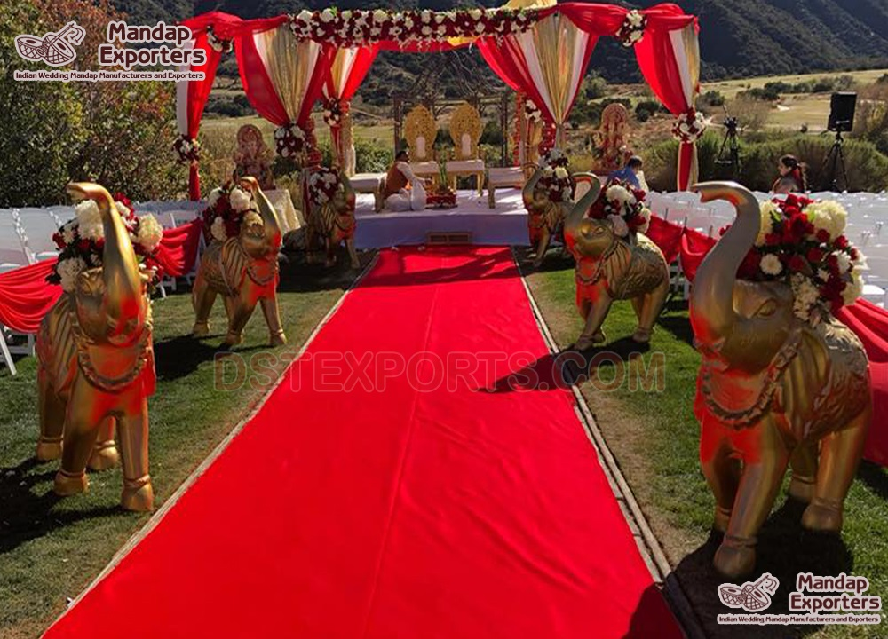 Indian FRP Elephant Statues For Wedding  Entry
