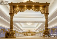 Indian Royal Wedding Wooden Gate Decor