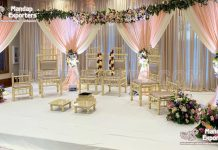 Indian Wedding Vedi Chairs In Sankheda Style