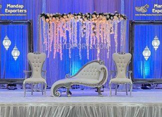 Italian Designer Loveseat & Chairs For Wedding