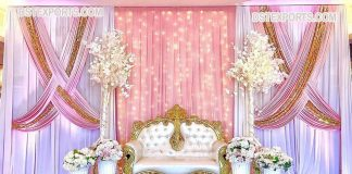 Luxurious Gold Carved Wedding Stage Couch