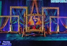 Magnificent Colorful Theme Mehndi Stage Decoration
