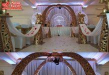 Majestic Elephant Trunk Pillars Wedding Mandap
