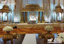Manavarai Wedding Golden Stage Decoration