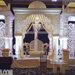 Morocco Style White Finish Mandap Set