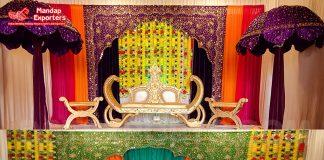 Muslim Wedding Heavy Embroidery Arch Backdrops