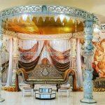 Phenomenal Fiber Crystal Pillar Wedding Mandap