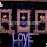 Roman Palace Theme White Wedding stage