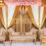 Royal Golden Wedding Theme Sofa Set
