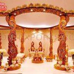 Royal Wooden Wedding Night Mandap Set
