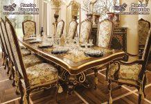 Standard Teak Wooden Handicraft Dining Table Set