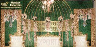 Stylish Metal Props Wedding Stage Decor