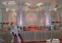 White Butterfly Crystal Wedding Mandap Set